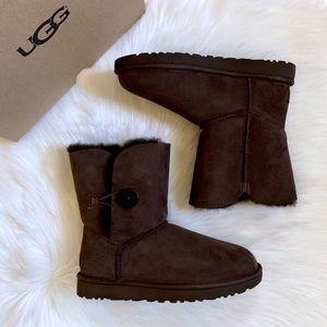 UGG Chocolate Bailey Button II Boots
